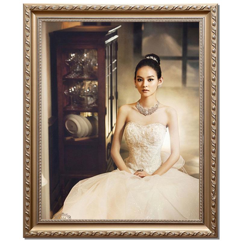 欧式实木婚纱相框 创意24 36油画框婚纱照像框摆台相框画框全家福图片