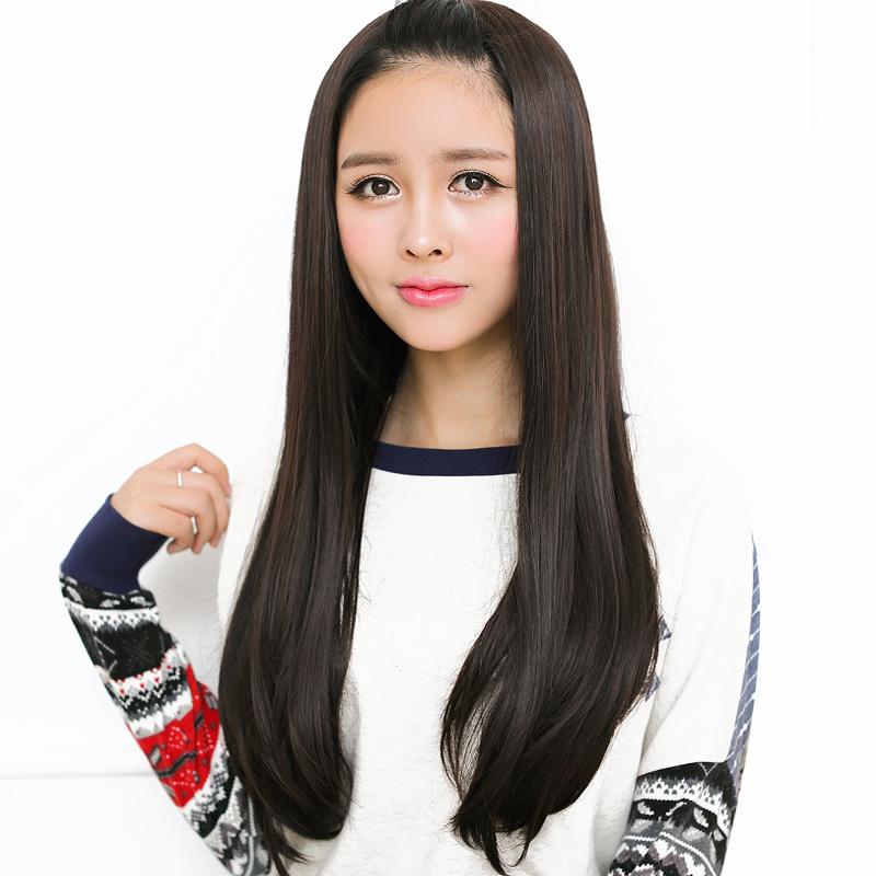 小苏妞假发 长卷发半头套假发 女生长直发梨花头蓬松时尚假发套 假发