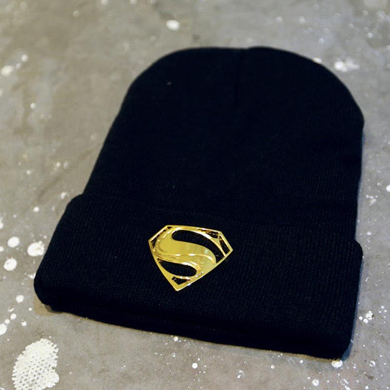 韩版休闲加厚保暖针织帽情侣男女针织毛线帽子青少年金属标志帽子