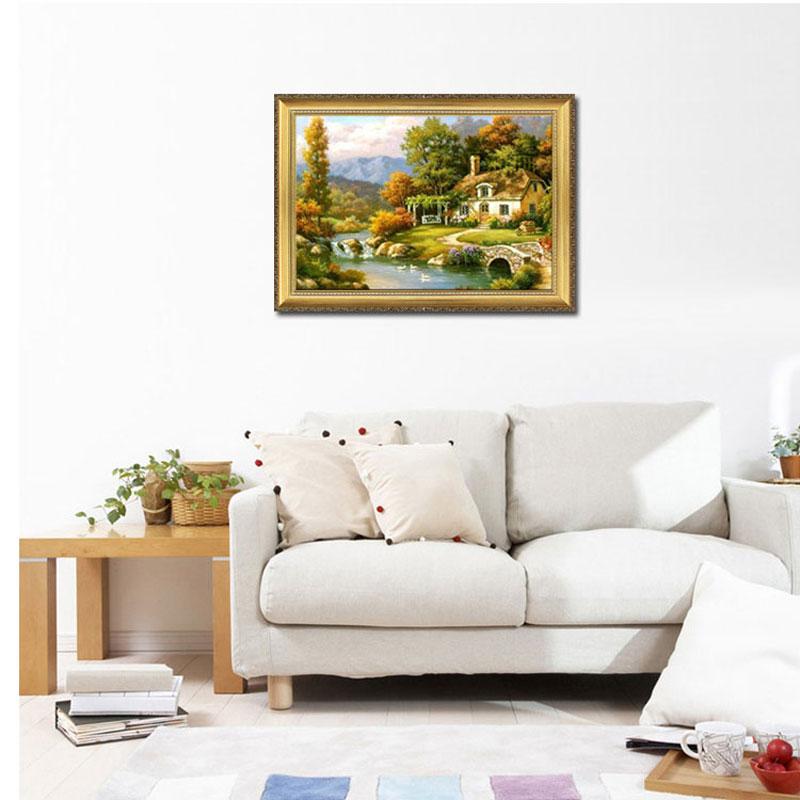 欧卡 高档欧式有框画 纯手绘油画办公室客厅沙发背景装饰画壁画挂画图片