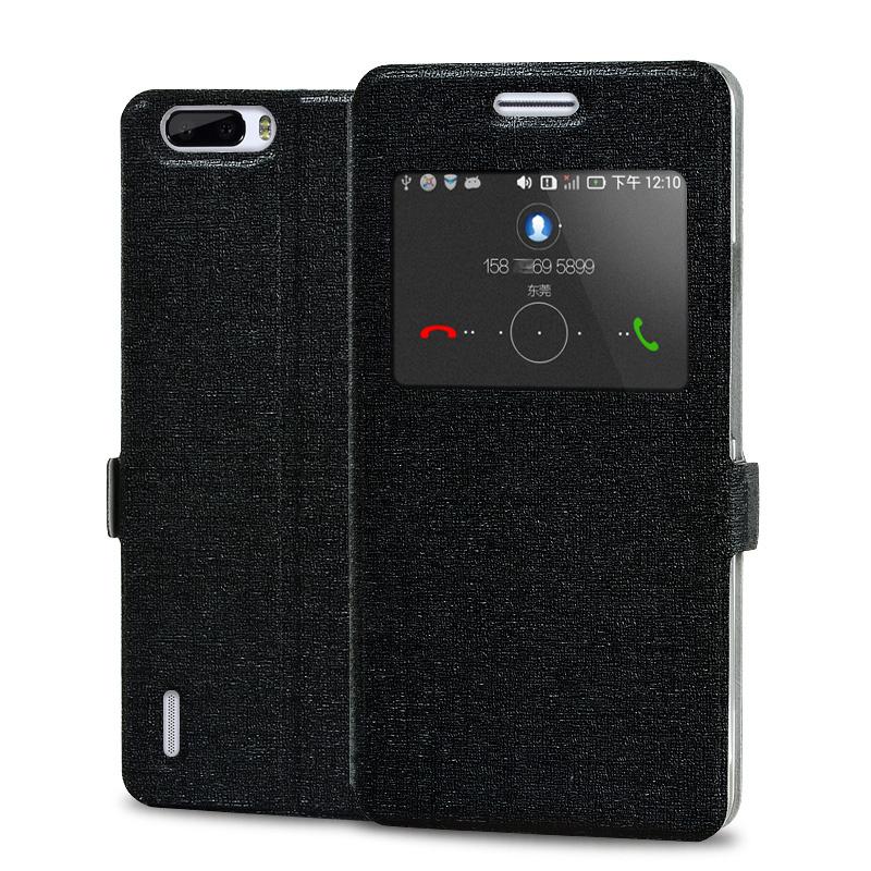 智能皮套手机壳手机套 适用于华为荣耀6Plus 荣耀6X PE TL10 天窗