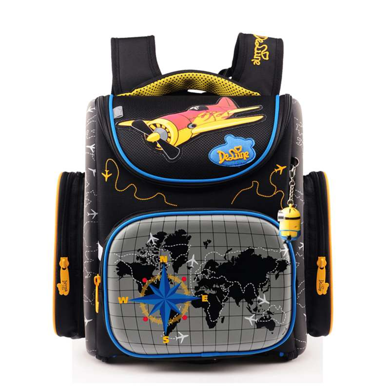 1-3-4年级男童女童公主书包双肩背包减负护脊3d韩版新款 3-108小飞机