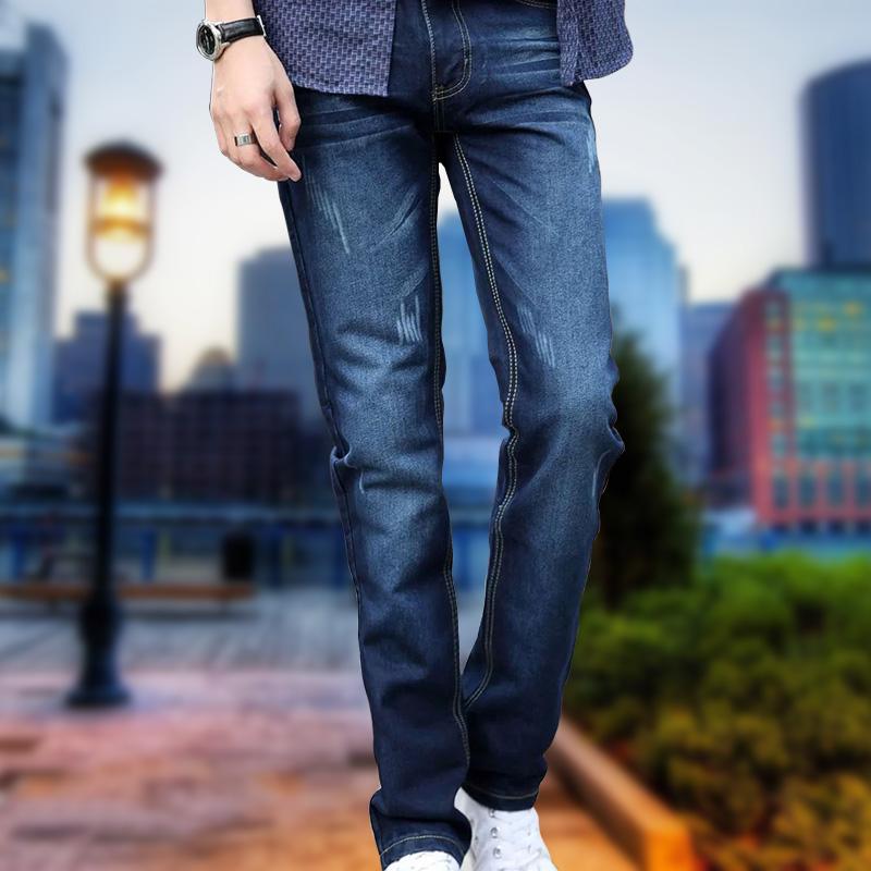 主邦威海澜之家真维斯森马版男装牛仔裤男韩版直筒潮图片