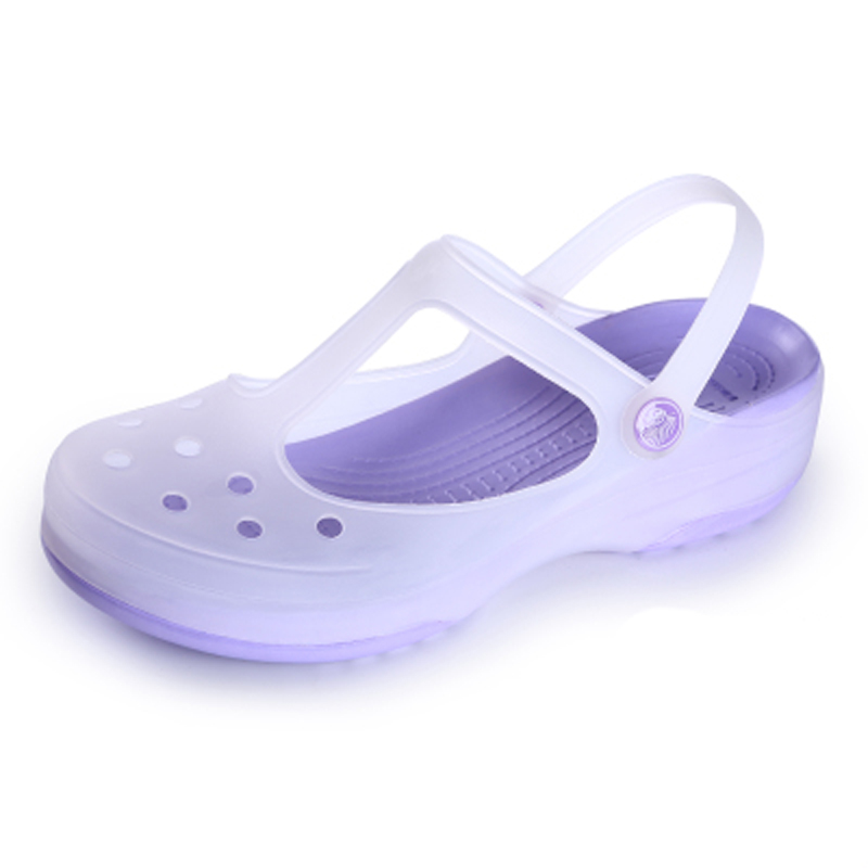 洞洞鞋女凉鞋2015夏季新款变色玛丽珍果冻鞋子厚底沙滩鞋平底女鞋