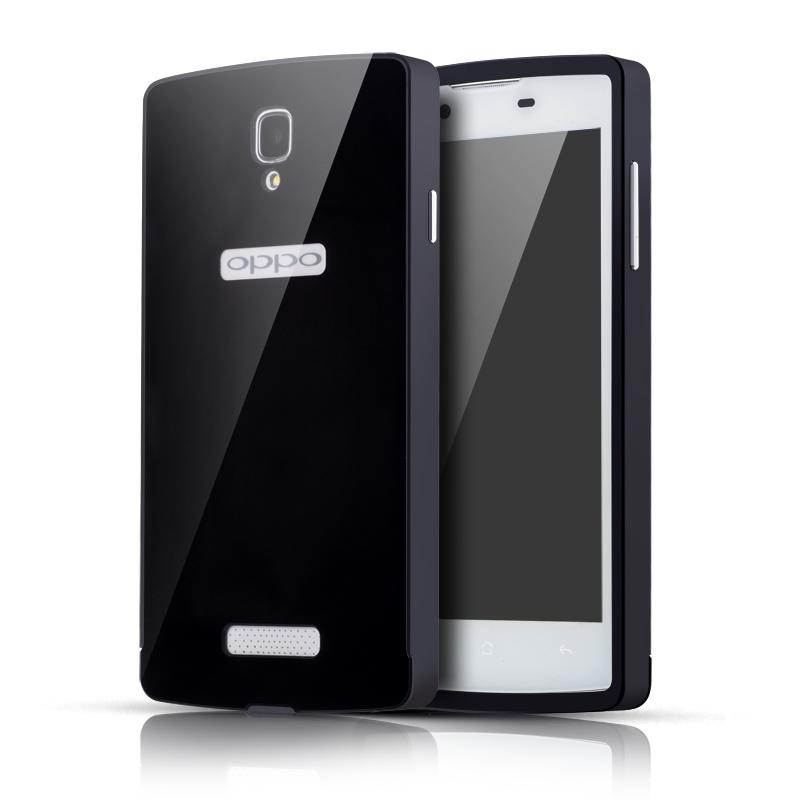 乔伊斯 金属边框pc后盖手机壳保护套 适用于oppo r831s/r831t 黑色