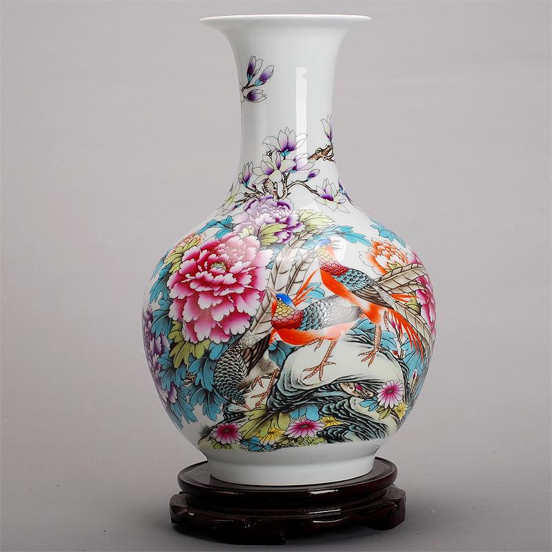 景德镇瓷器客厅陶瓷花瓶现代时尚白色摆件 家居摆设装饰 锦堂富贵 赏