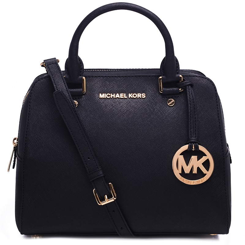 black and gray michael kors bag  michael