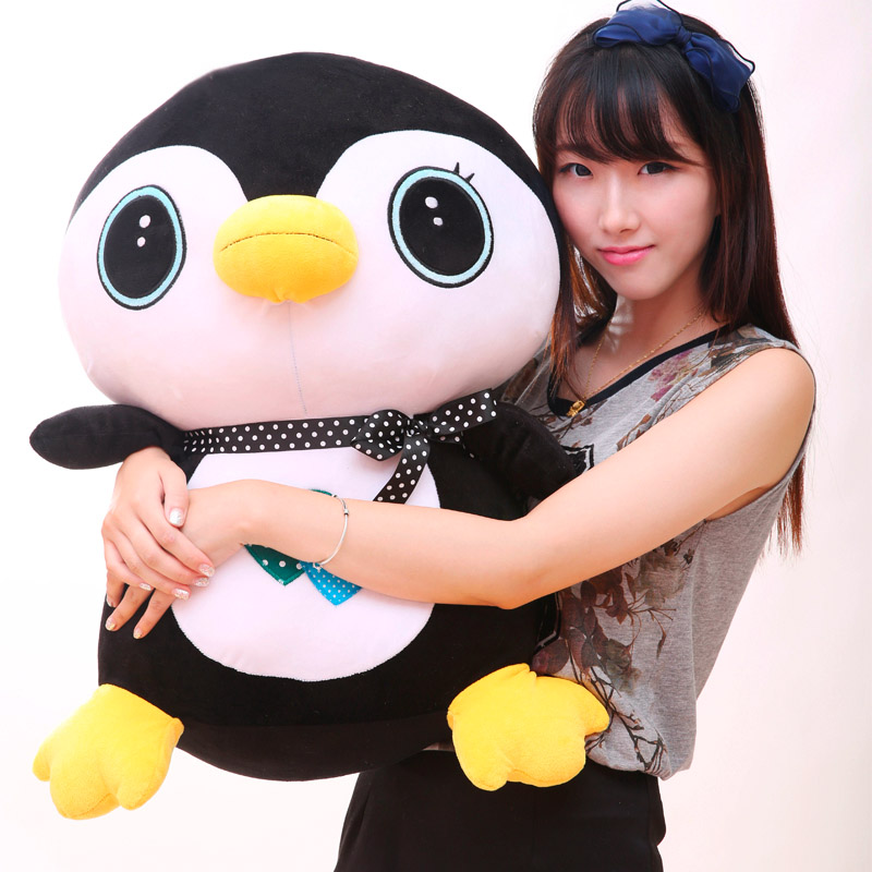 企鹅毛绒玩具qq企鹅公仔生日礼物玩偶布娃娃送女生 黑色 小企鹅 65
