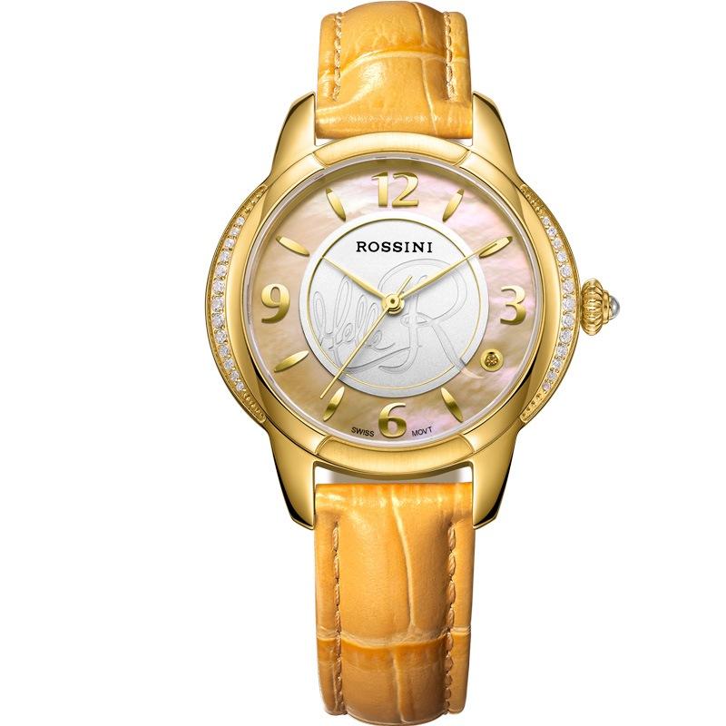 罗西尼(rossini)手表 典美时尚系列镶钻腕表贝母表盘瑞士石英机芯女表图片