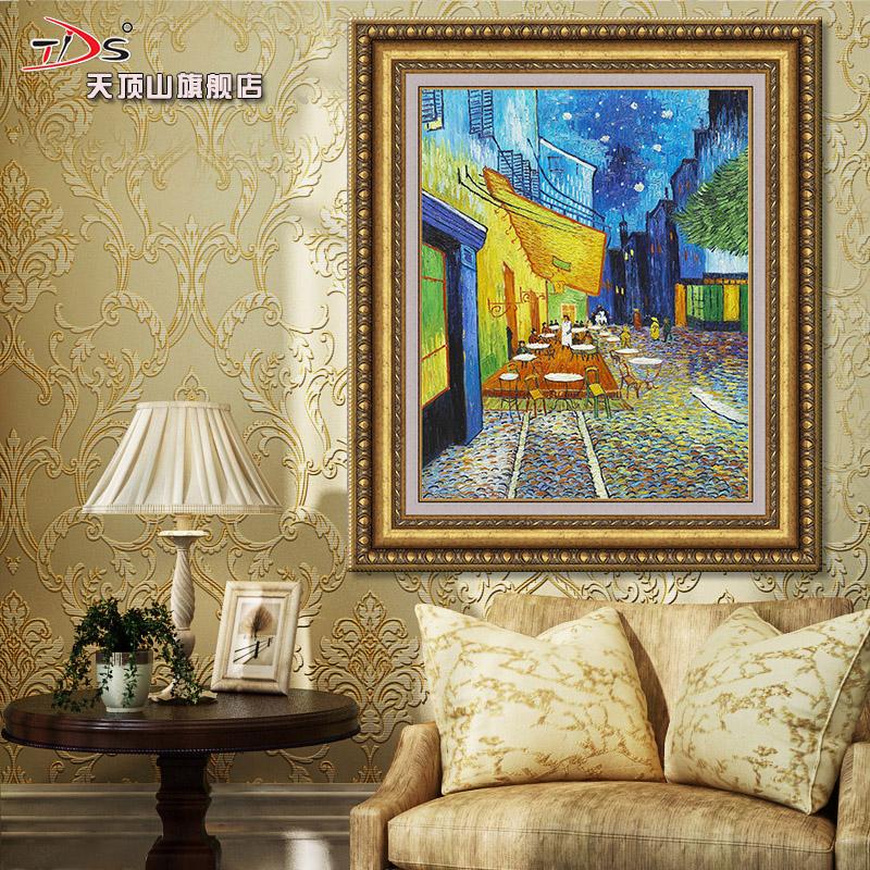 天顶山 欧式油画客厅装饰画三联画挂画壁画玄关装饰画图片