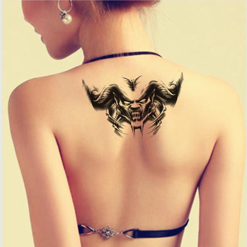 新款纹身贴纸 天使与恶魔图案纹身贴防水求六翼天使图片