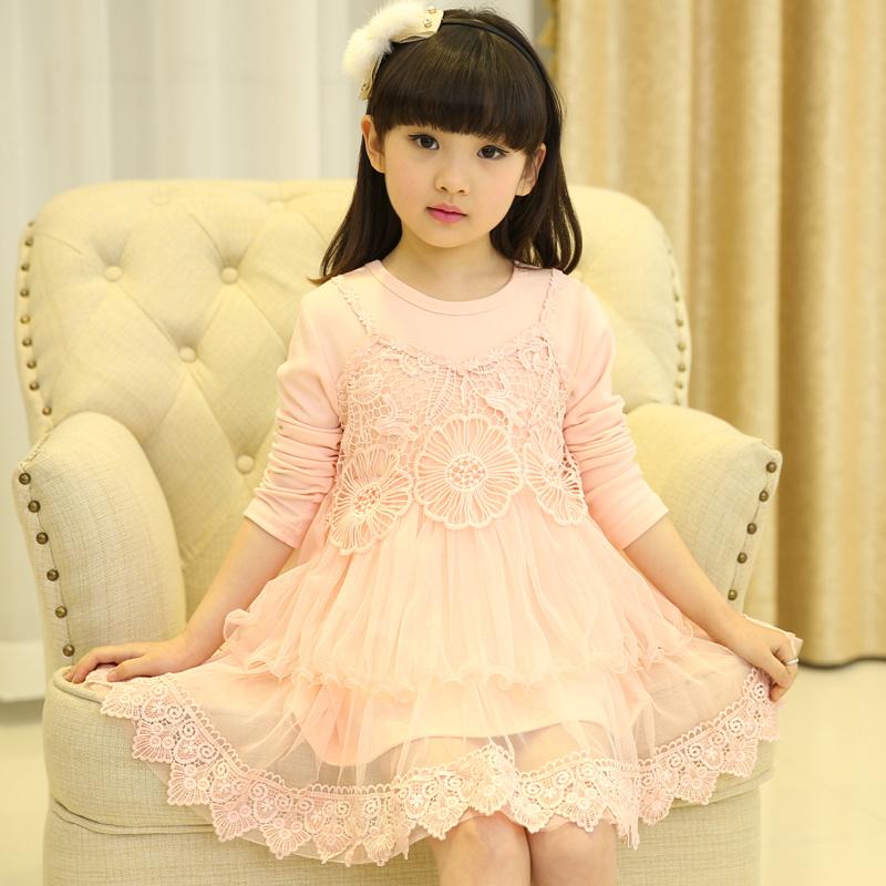 爱咪儿童装2015春款女童裙子白色小公主裙女童春装潮图片