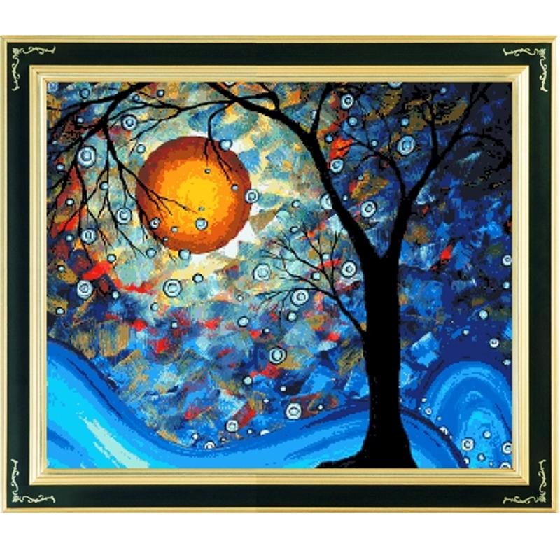 绚艺印花十字绣星空梵高梦之树好梦成真世界名画欧图片