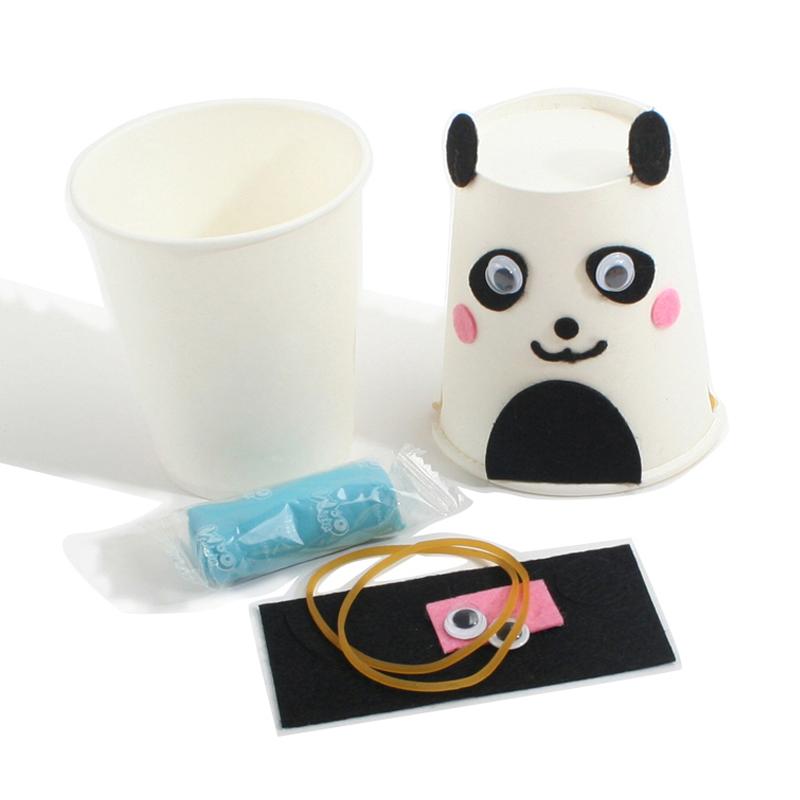熊猫纸杯作品图片步骤