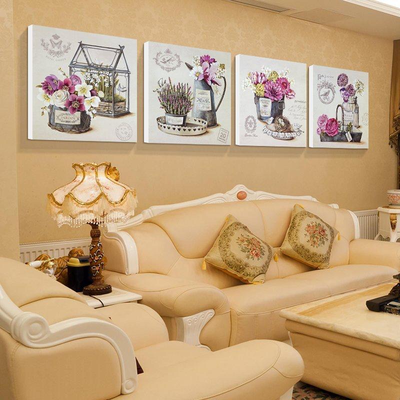 美时美刻欧式仿油经典无框画 沙发背景墙装饰画卧室床头挂画酒店壁画