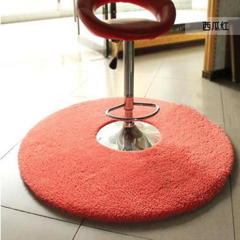 北极绒圆形地毯健身瑜伽地垫吊篮电脑椅垫 客厅卧室可爱床边地毯 西瓜