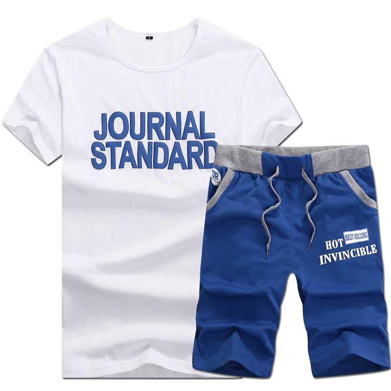 2015男士韩版修身时尚休闲男士短袖短裤运动跑步套装