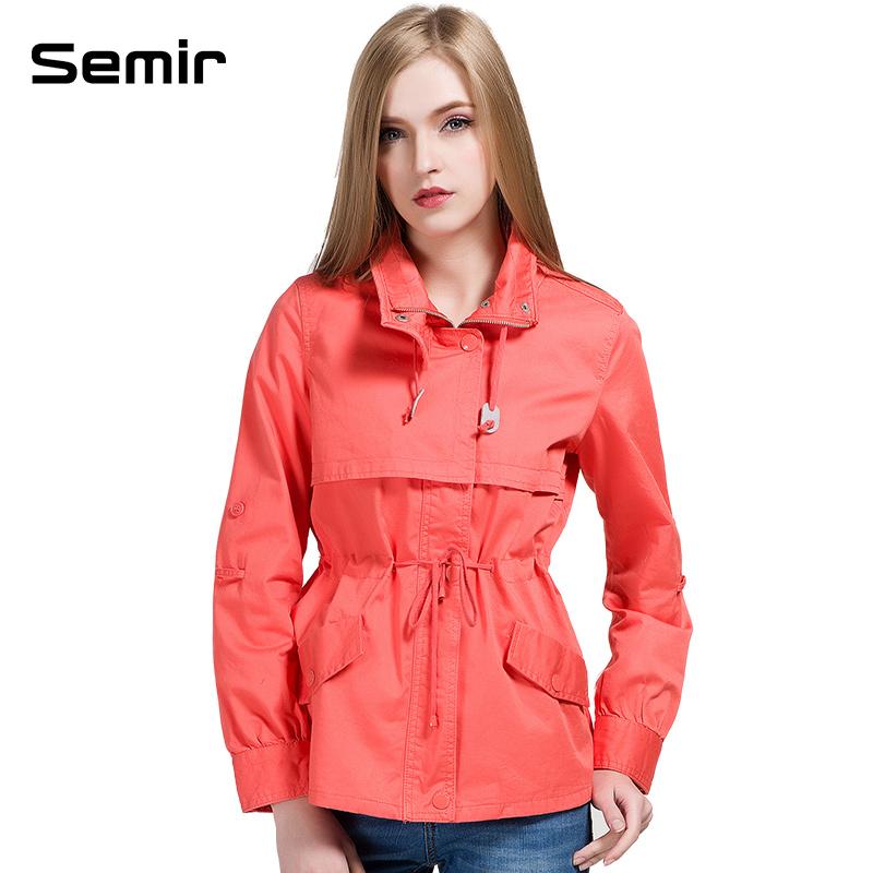 森马女装2015春装新款上衣外套女立领韩版潮专柜款 橙红 xxl图片