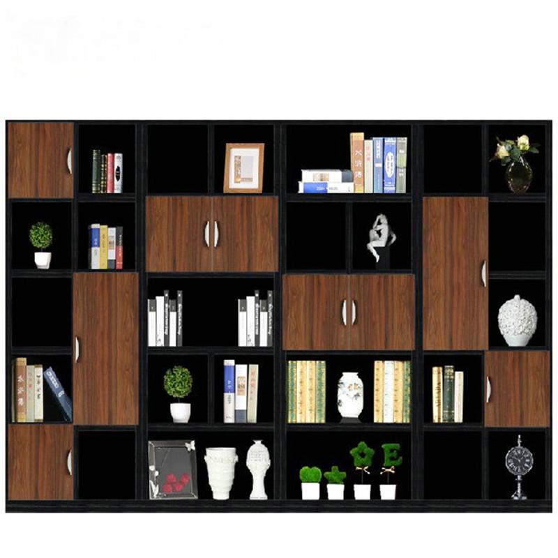斐夭斯 办公家具板式书柜书架组合书橱柜子 储物展示物架简约现代储物