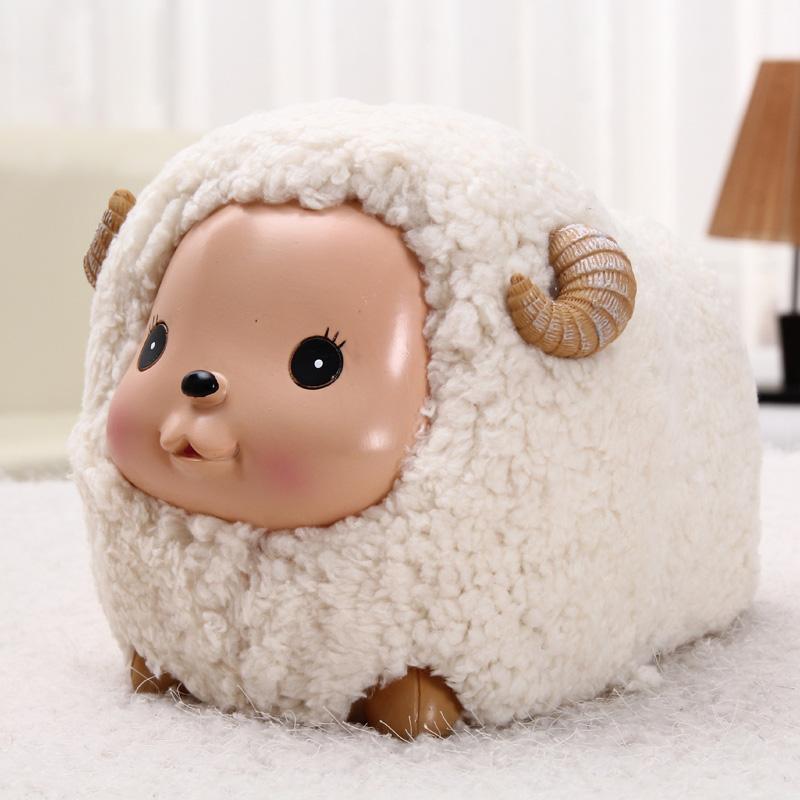 微品多小羊存钱罐创意可爱储蓄罐大号纸币六一儿童节卡通储钱罐 小号