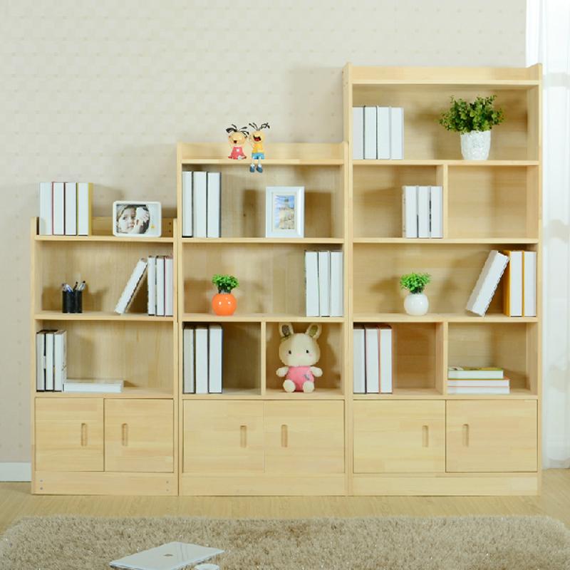 怡美达实木书柜带门儿童书橱书架简易自由组合储物置物柜子yd-013图片