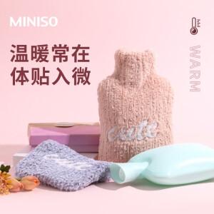 MINISO 名创优品 加厚PVC热水袋 1.8L 送针织防烫套 主图