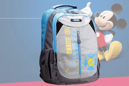 【迪士尼】小学生书包儿童蓝色背负式书包男36年级韩版卡通学生背包