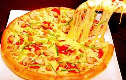 豪华意式披萨1个,提供免费wifi,甜蜜滋味,欢乐尽享!