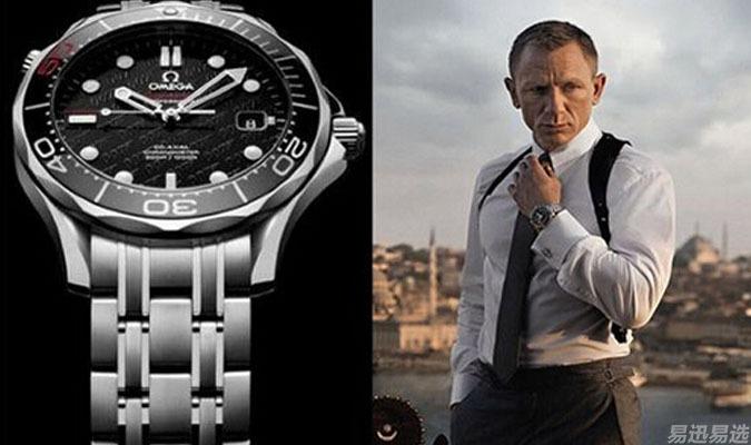 代表人物:007詹姆斯邦德 代表品牌:欧米茄 1995年皮尔斯布鲁斯南在图片