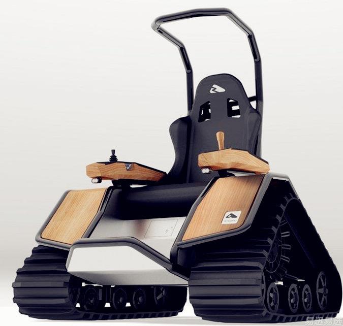 "Der Ziesel的单座越野履带车 被称为士兵量身打造的""快速反应模块化平台"""