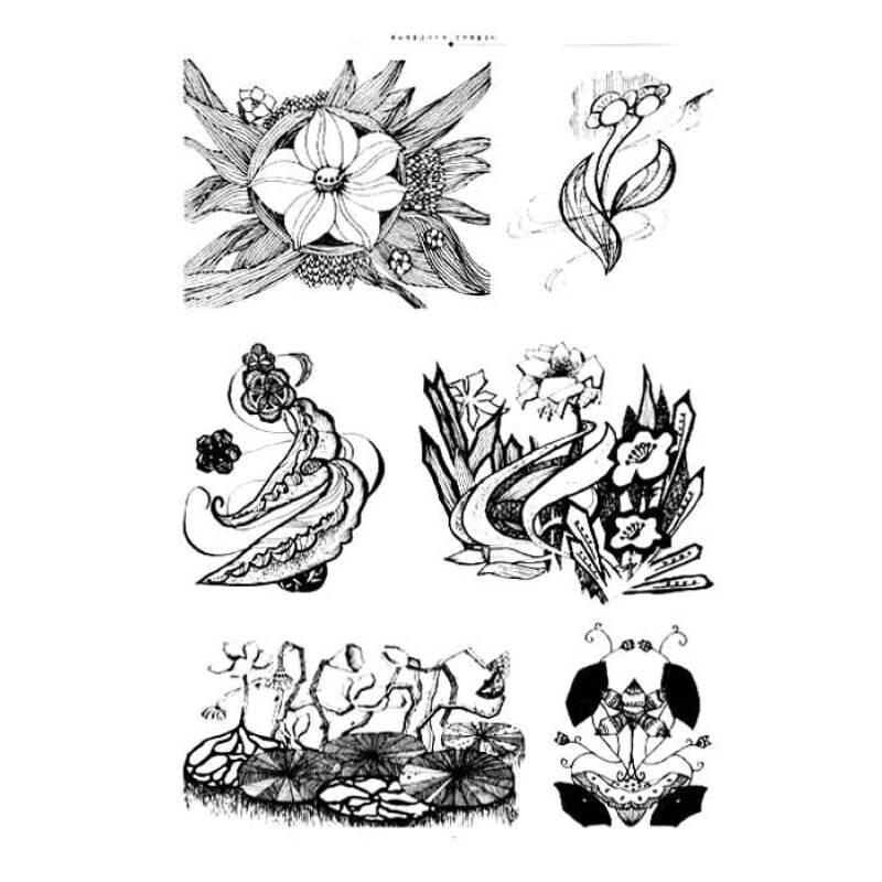 手绘花卉变形_花卉装饰图案_裕安图片网