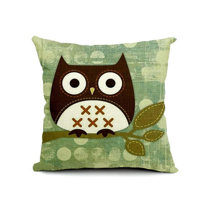 mymei pillow case cushion cover owl 100