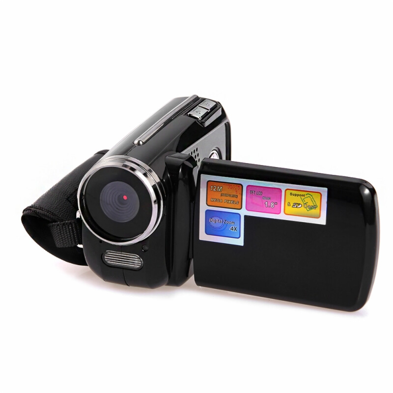 1.5inch 12MP HD 720P 4X Zoom Camera Mini DV Digital Video Camcorder Black