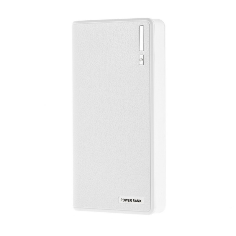 50000mAh External Power Bank Backup LED Dual USB Battery Charger for Phone White