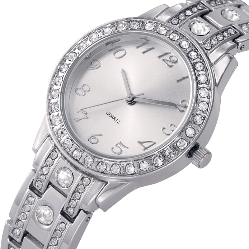Fashion Women Watches Diamond Analog Display Good Quality Elegant Quartz Watch Life Waterproof Good Gift