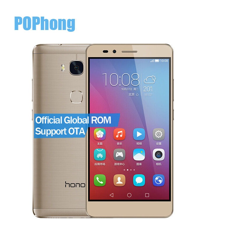 Global ROM Huawei Honor 5X 4G LTE Dual SIM сотовый телефон Snapdragon MSM8939 615 окта Ядро 5.5 '' FHD 2 Гб  16 Гб  13.0