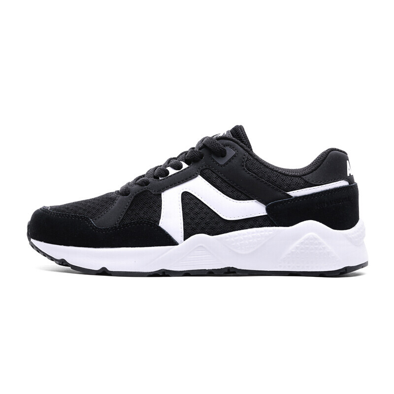 ANTA Women's Shoes 92728861 Casual Shoes Women's Running Shoes Comfortable Sports Shoes Black / Anta White-3 6.5 Female 37.5