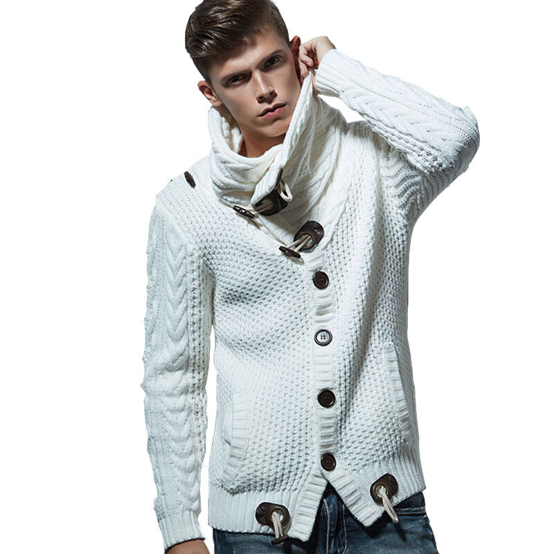 Autumn Winter Fashion Casual Cardigan Sweater Coat Men Loose Fit ...