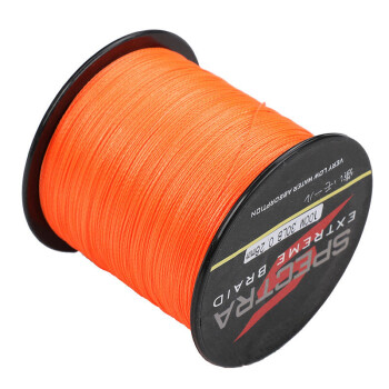 4strands 100m 2000m 6lb 300lb test orange 100 pe dyneema for Orange fishing line