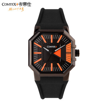COMTEX quartz-watch Casual Fashion Spore Watch men Luxury Brand Waterproof Leather relogio masculino S6242G