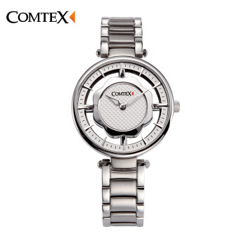 COMTEX Stainless Steel Watches Women Personality Hollow Creative Leisure Watch Elegant Ladies Watch Luminous Quartz Watch