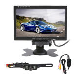 Car Electronics-7' TFT LCD Car Rear View Reverse Monitor+Wireless Transmitter+7 LED Camera Kit Free Shipping on JD