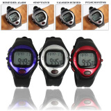 Men's Watches-Pulse Heart Rate Monitor Calories Counter Fitness Watch Time StopWatch Alarm on JD