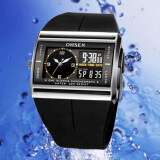 Men's Watches-OHSEN Unisex Waterproof Digital LCD Alarm Date Mens Military Rubber Watch on JD