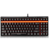 Computer Accessories-(Rapoo) V500 mechanical black shaft mechanical gaming keyboard Black Edition on JD