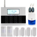 Security & Protection Products-GSM SMS Home Burglar Security Alarm System LCD Display Auto Dial Touch Keypad on JD