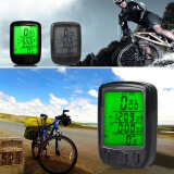 Cycling-Bicycle Wired LCD PC Odometer Speedometer Waterproof + Green Backlight on JD