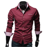 Shirts-Zogaa New Autumn And Winter Korean Men's Shirt Slim Casual Fashion Long Sleeve on JD