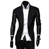 Leather & Faux Leather-CT&HF Men Faux Jacket Casual Men PU Coat Winter Outerwear For Men on JD