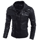 Leather & Faux Leather-Zogaa New Men's Jacket Slim Leather Clothings on JD